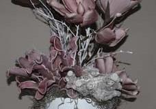 foambloemstuk roze 5 (80cm hoog) € 65,00