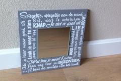spiegel tekstbord (30x30cm) € 17,50