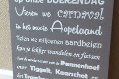 tekstbord Rijsbergen (60x40cm) € 25,00