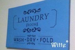 tekstbord Laundry (70x40cm) € 25,00