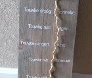 tekstbord Touwke (60x20cm) € 20,00